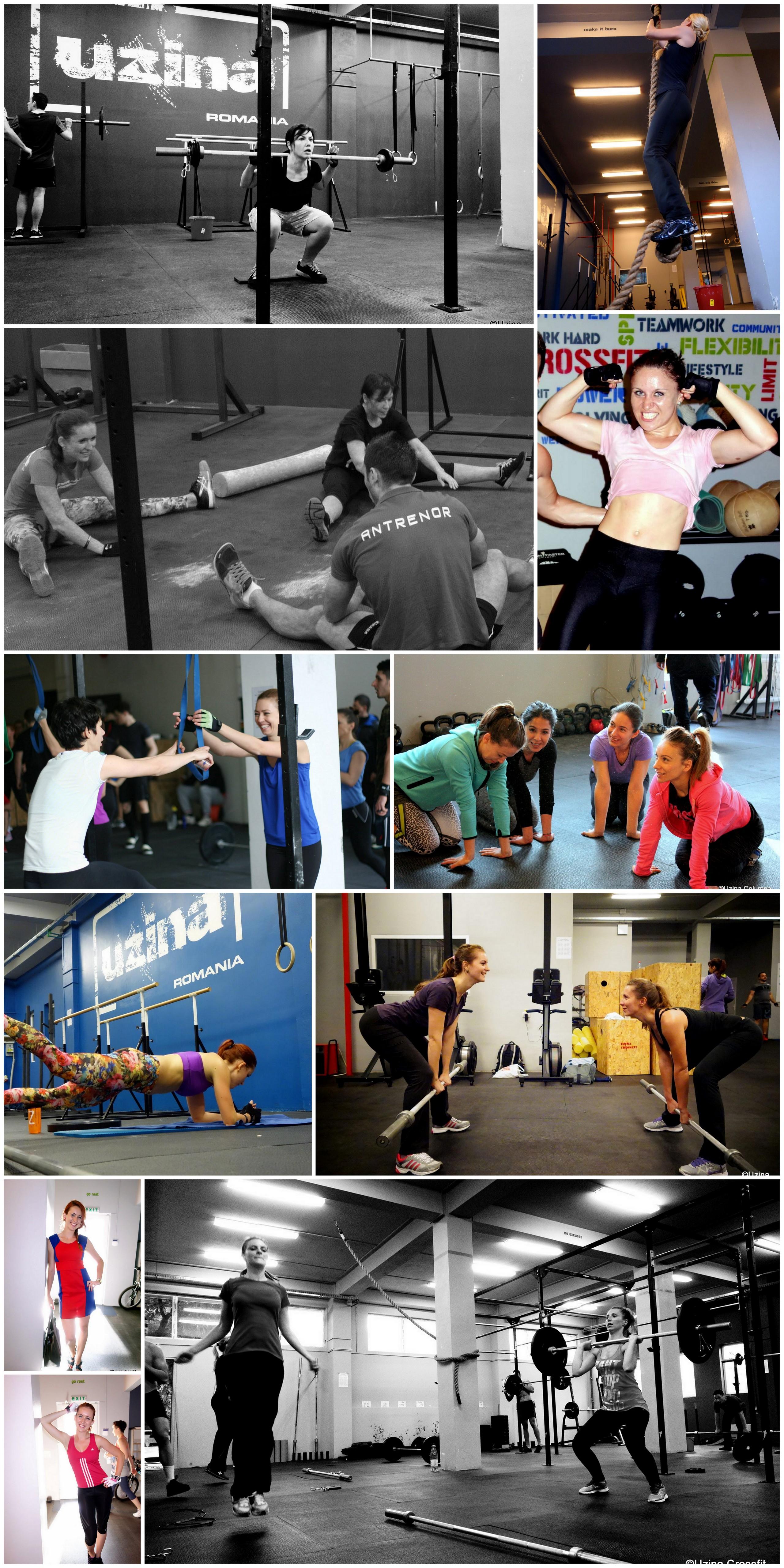 Fetele la orele de CrossFit Columna