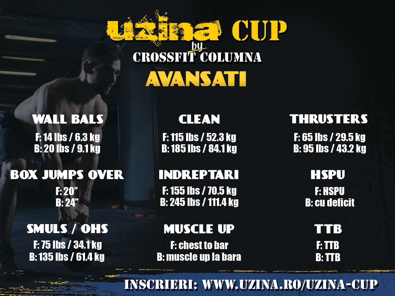 UzinaCup 2016 - exercitii si greutati pentru categoria avansati