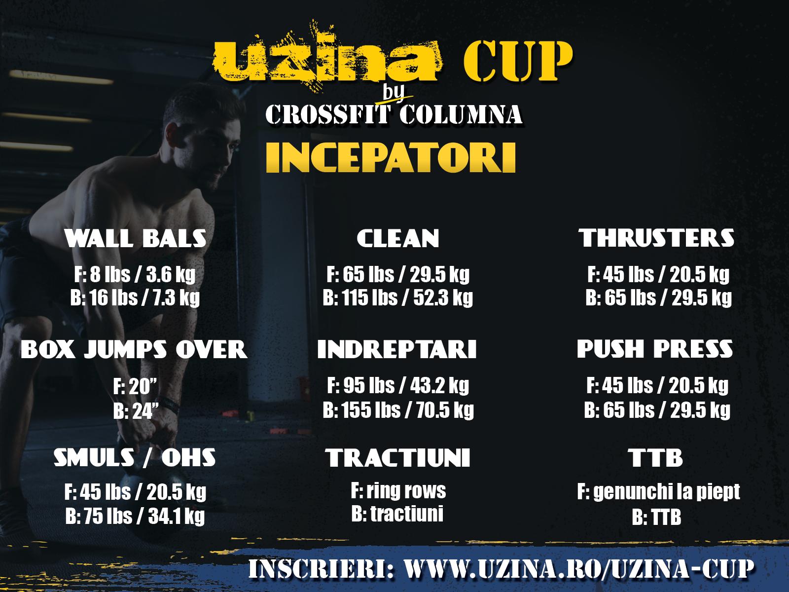 UzinaCup 2016 - exercitii si greutati pentru categoria incepatori