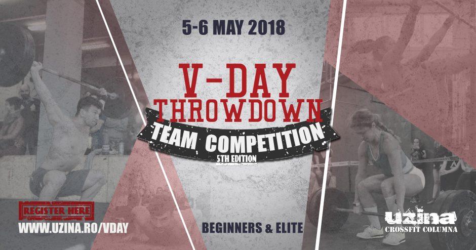 V-Day Throwdown 2018 - Concurs de CrossFit pe echipe la Uzina
