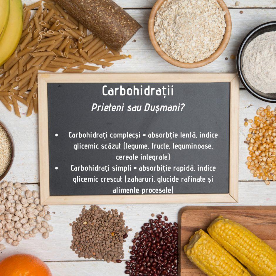 Carbohidratii - prieteni sau dusmani?