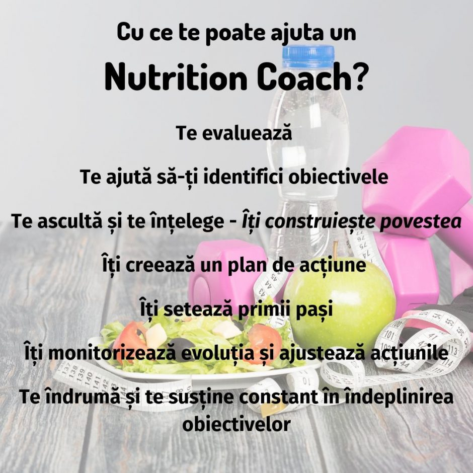 Cu ce te poate ajuta un Nutrition Coach