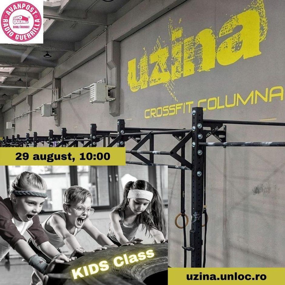 Antrenamente de CrosFit pentru copii la Uzina CrossFit Columna